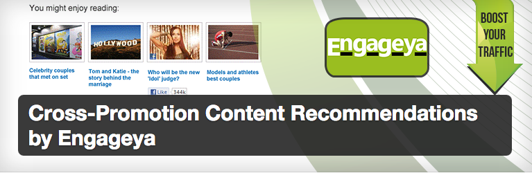 4. Cross-Promotion Content Recommendations by Engageya